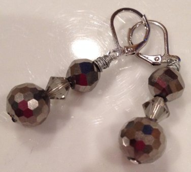 Silver Disco Ball Earrings