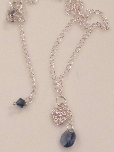 Swarovski Montana Blue & Sterling Silver Necklace