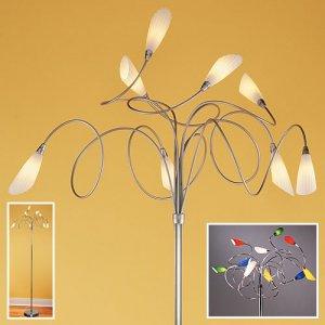 Furly Floor Lamp w/ Multicolor Sconces
