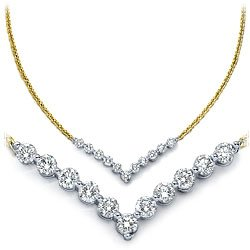 18k Gold Diamond Necklace (1 ct. tw.)