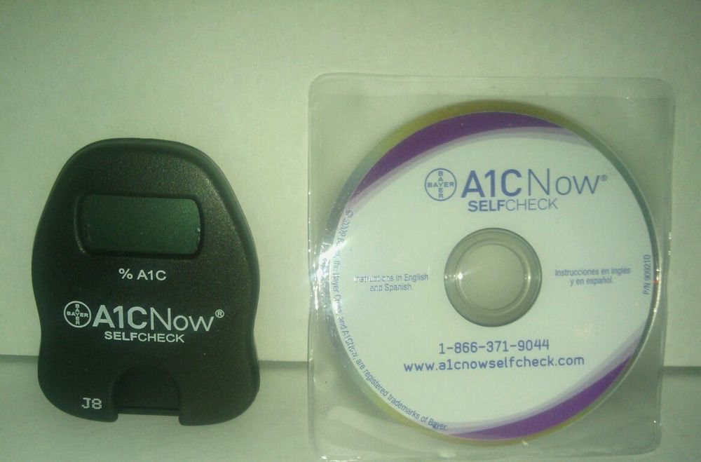 BAYER A1C NOW SELF CHECK** A1C SYSTEM with CD. UNTESTED. AS IS.