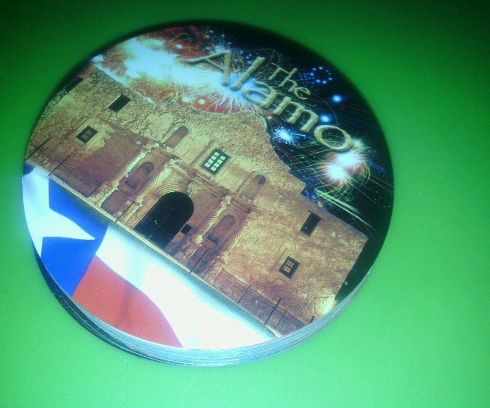 "ALN**""THE ALAMO"" CIRCULAR COLLECTABLE PLAYING CARDS**PATRIOTIC"