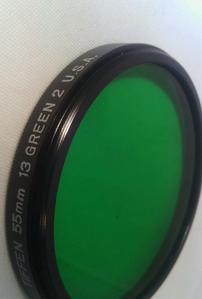 LN**TIFFEN  55mm 13 GREEN 2 FILTER U.S.A