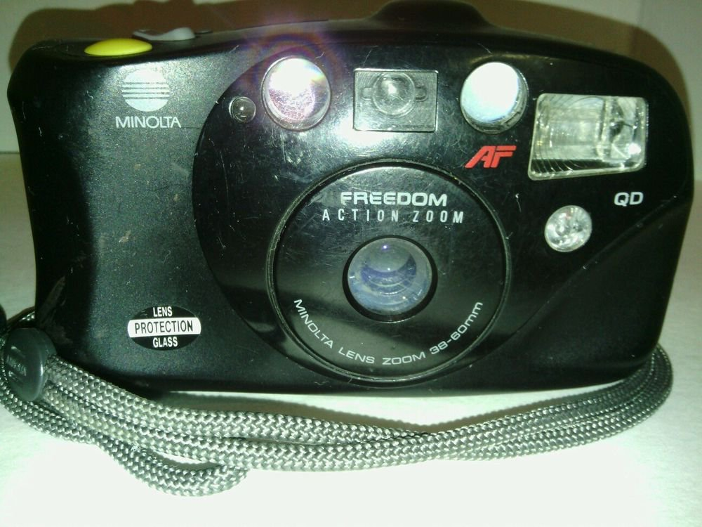 MINOLTA FREEDOM ACTION ZOOM QD AF**NOT FULLY TESTED**POWERS ON