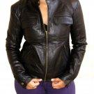 "Women's Bomber Leather Jacket Style 28F Size ""M"""