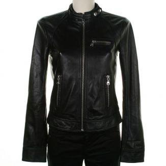 NWT Women's Biker Leather Jacket Style FS-58