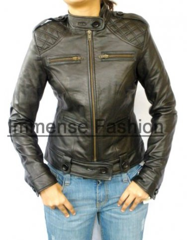 Ladies New Age Bomber Fitted Leather Jacket Style 52F