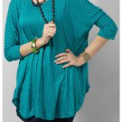Women's Yellow Turquoise Viscose Knitted Top