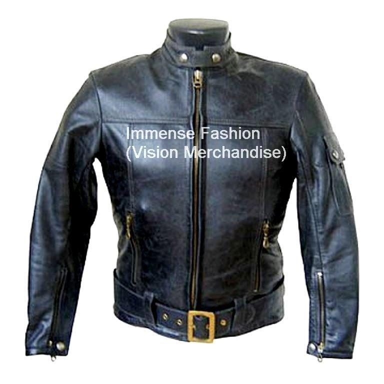 Men's Motor Bike Leather Jacket Style MD-108