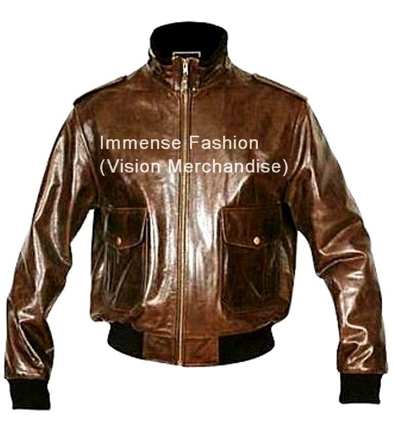 Men's High Neck Bomber Leather Jacket Style MD-110