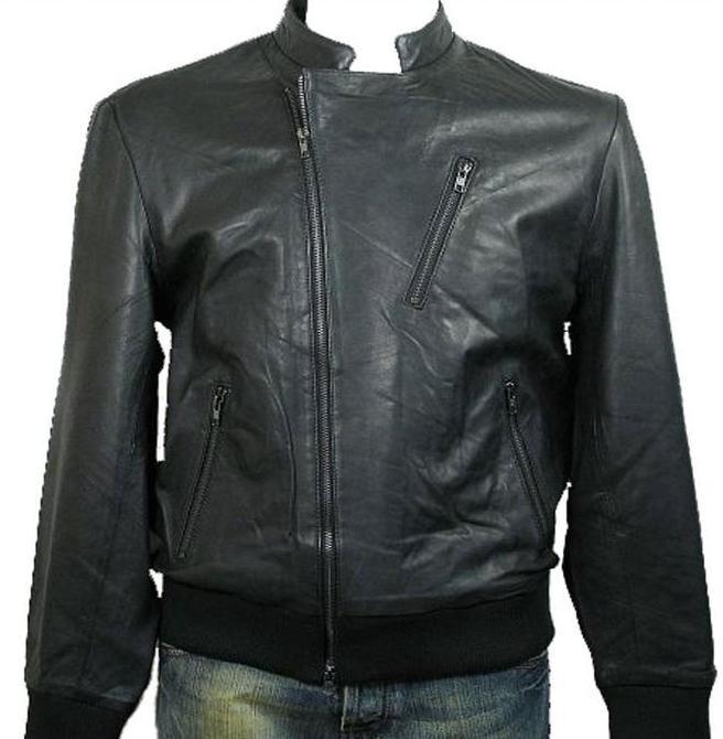 Men's Motor Bike Leather Jacket Style M76