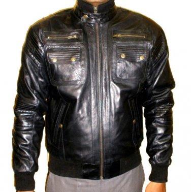 NWT Men's Bomber 6 pocket Sheep Skin Leather Jacket Style M75 sizes S to 4XL