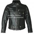 Men's Street Biker Leather Jacket Style MD-106