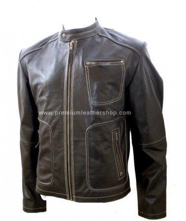 NWT Men's Retro Biker Leather Jacket Style M14