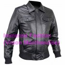 Men's Bomber Leather Jacket Style MD-58