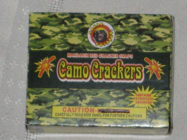 (15) BOXES CAMO RED CRACKER ADULT SNAPS