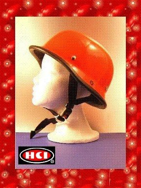 HCI CLASSIC GERMAN NOVELTY HELMET IN RED SIZE MEDIUM NEW FREE SHIP