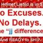 HCI DOT GERMAN MOTORCYCLE HELMET MEDIUM CHROME NEW 2009