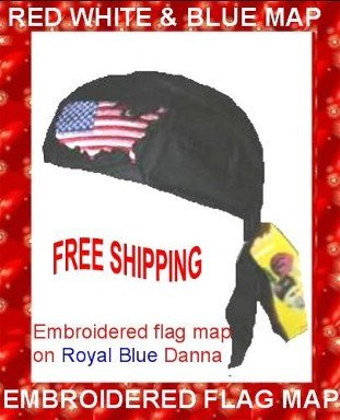 Amazing Danna Embroidered Map on Dark Blue Danna NEW With TAGS. $3.95 FREE SHIPPING