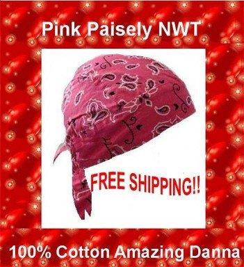 Danna Head Wrap Amazing Danna Light Pink Paisley $3.95 FREE SHIPPING