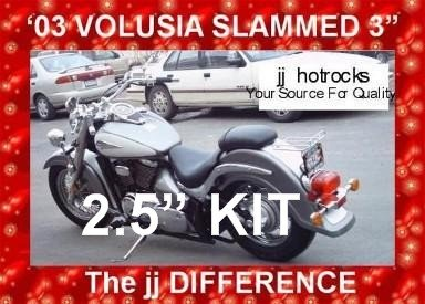 "SUZUKI VOLUSIA C50 & M50 CUSTOM LENGTH 2.5"" INCH LOWERING KIT NEW FREE SHIPPING"