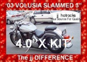 SUZUKI VOLUSIA C50 & M50 4.0 INCH EXTREME LOWERING KIT NEW FREE SHIPPING
