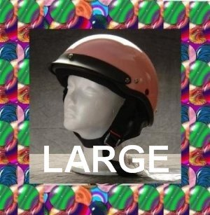 HCI LIGHTEST DOT MOTORCYCLE HELMET PINK LARGE NEW 2009