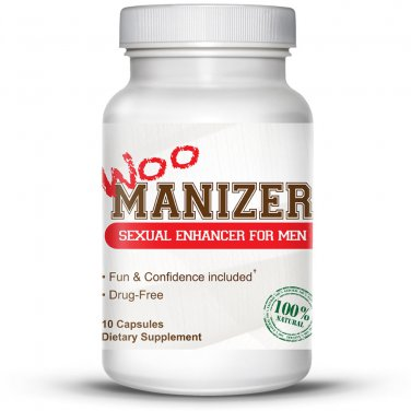 Woo Manizer - #1 Sexual Enhancer for Men - 10 Capsules Performance Formula