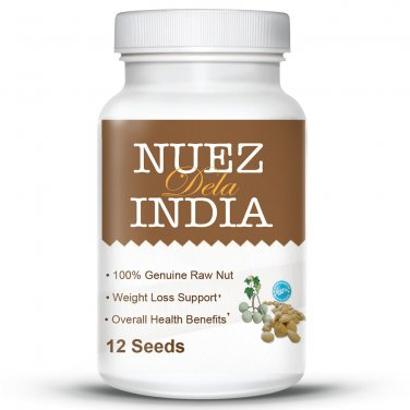 Nuez Dela India - #1 Genuine South American 100% Natural Weight Loss System - 12 Seeds
