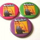Magnets or Mirrors Set of 3 Rosie Girl Power Retro