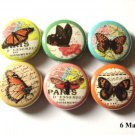 "Beautiful Butterfly Collage 1"" Magnets Set of 6 Nature"