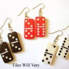 One (1) Mini Domino Dominoes Earrings - Pick your Color