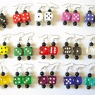 15 Pair 16mm Dice Earrings Party Pack Bunco Prizes Fun