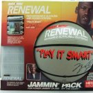 Michael Jordan Basketball - Rayovac Renewal Rechargable Alkaline Batteries And Power Station