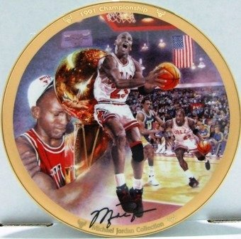 1992 - Upper Deck - The Michael Jordan Collection - 1991 Championship - Collector's Plate