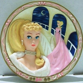 1992 - The Bradford Exchange - Barbie - Enchanted Evening - 1st Issue - Collector Plate