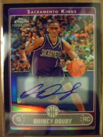 2007 - Quincy Douby - Topp's - Chrome - Autographed - Refractor - Rookie Card