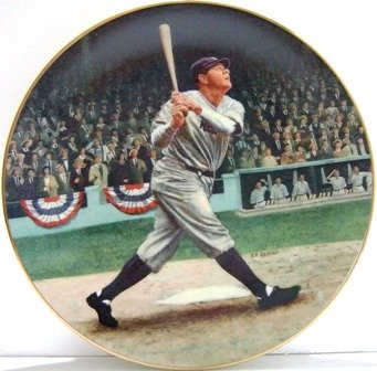 """Babe Ruth - """"The Called Shot"""" Baseball Collector's Plate"""