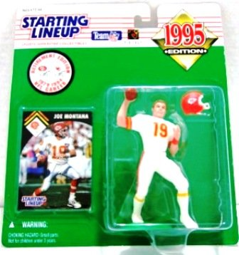1995 - Joe Montana - Action Figures - Starting Lineups - Football - Chiefs