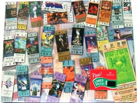 Super Bowl Tickets - Collectibles - Jigzaw - Puzzles