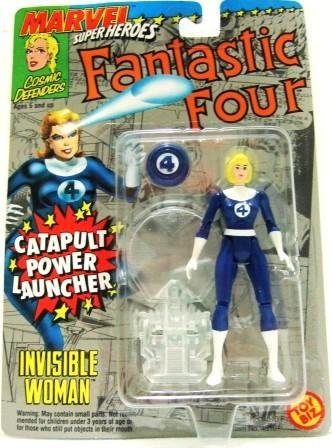 1994 - Toy Biz - Marvel Super Heroes - Fantastic Four - Invisible Woman - Toy Action Figure