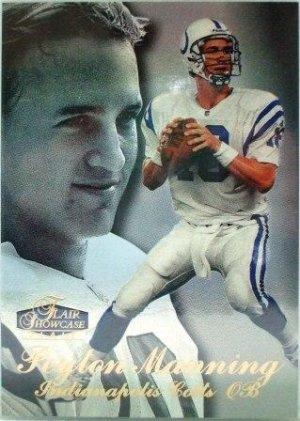 1998 - Peyton Manning - Fleer - Flair Showcase -Rookie Card
