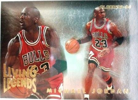 1993/94 - Michael Jordan - Fleer - Living  Legends - #4
