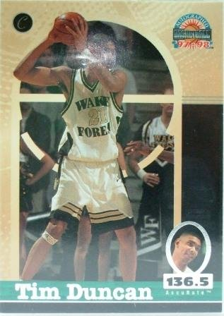 1997/98 - Tim Duncan - The Score Board - AccuRate - San Antonio Spurs - Rookie Card #1