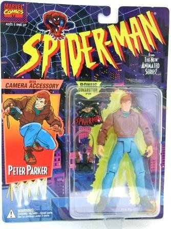1994 - Peter Parker - Toy Action Figures - Toy Biz - Marvel - Spider-Man - The New Animated Series