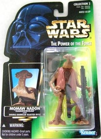 """1997 -  Momaw Nadon """"Hammerhead"""" -  Action Figures - Star Wars - The Power of the Force - Green Card"""