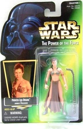1997 - Princess Leia Organa - Action Figures - Star Wars - The Power of the Force - Green Card