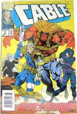 1993 - Marvel - Cable - Deadly Reunion - Vol. 1 - No. 4 - Comic Books