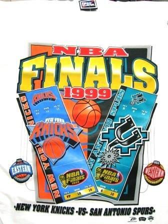 "1999 - NBA Finals - ""San Antonio Spurs vs  New York Knicks"" - Fan Apparel - T-Shirt"