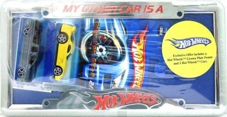 Hot Wheels - Exclusive - Chrome - License Plate - Frame